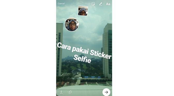 Wajah untuk Stiker Instagram