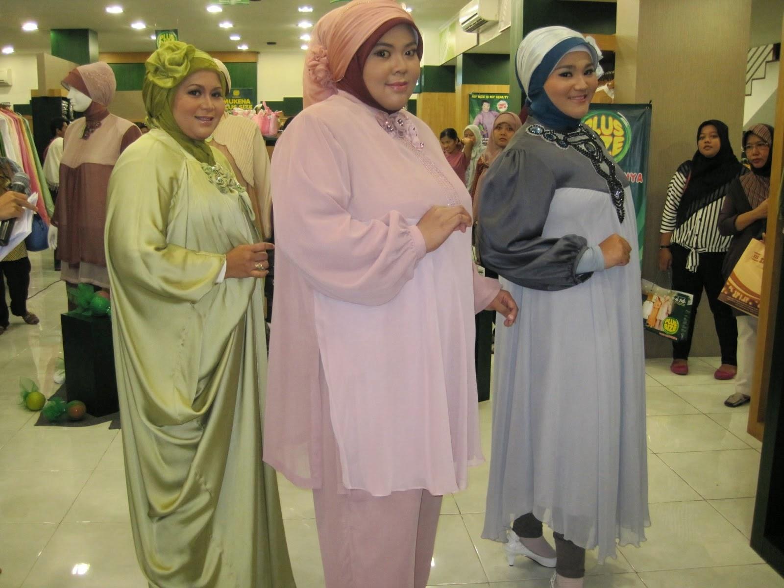 busana muslim wanita gemuk