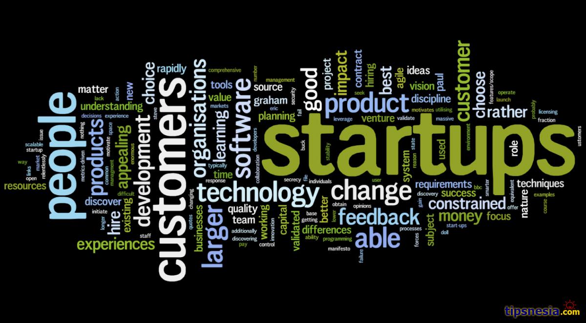 tulisan startup